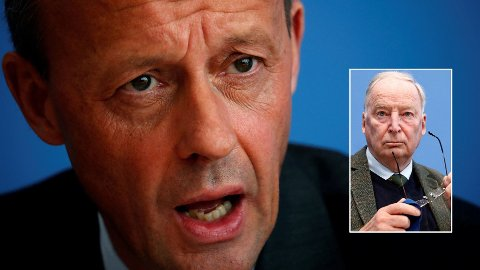 Den 62 år gamle forretningsadvokaten Friedrich Merz har lansert seg selv som kandidat til å overta som partileder i det kristenkonservative partiet CDU etter statsminister Angela Merkel. Alexander Gauland er leder for det ytterliggående partiet AfD.