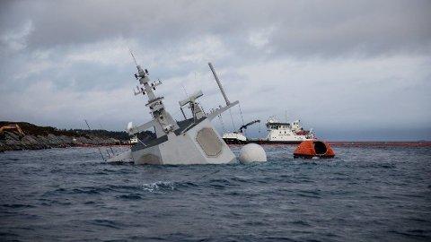 NYE OPPLYSNINGER: Amerikanske NATO-soldater skal ha vært om bord da fregatten kolliderte.