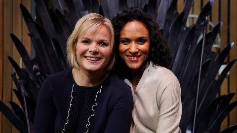 TV-AKSJONEN: 20 prosent av pengene som ble samlet inn til årets TV-aksjon, gikk til kostander i forbindelse med organiseringen av aksjonen. Ãrets programledere i Oslo var Ingrid Gjessing Linhave (t.v.) og Haddy Njie.