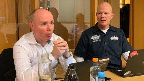 Sikkerhetsekspertene Christian Sandberg og Arnfinn Strand i sikkerhetsgiganten Check Point.