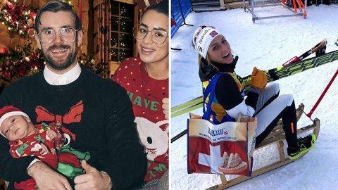KJENDIS-JUL: Stian Blipp og Therese Johaug er bare to av mange kjendiser som ser frem til julen.