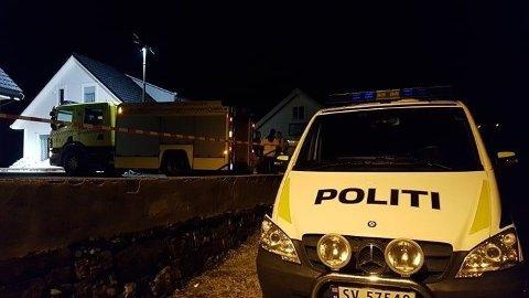 SPRENGNINGSULYKKE: En mann i Meland kommune er skadd etter en sprengningsulykke i en privatbolig.
