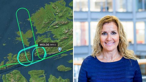 «KUNSTVERK»: Slik ble flymønsteret seende ut etter at Karita Bekkemellem var på en flytur med sin ektemann og SAS-pilot, Stein Røsberg.