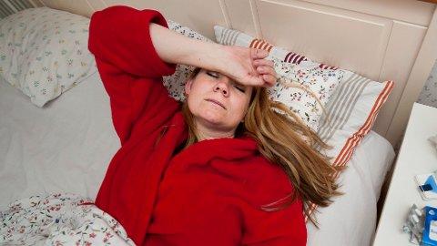 DÅRLIG?: Årets influensaepidemi er i gang, og sykdommen smitter lett.