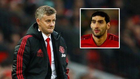 PÅ VEI BORT? Engelske medier hevder Ole Gunnar Solskjær skal være klar til å la Marouane Fellaini forlate Manchester United i januar.