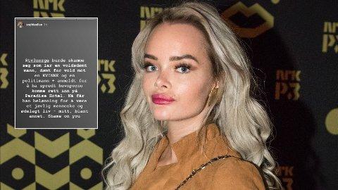 Toppblogger Sophie Elise Isachsen er lite fornøyd med at TV3 lar hennes ekskjæreste Robin Johansson delta i årets Paradise Hotel.