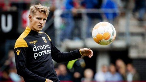 STORSPILTE: Martin Ødegaard noterte seg for to målgivende pasninger da Vitesse slo Excelsior 3-2 fredag.