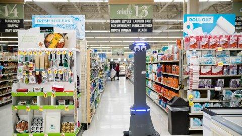 GIGANT: Denne roboten vil være på plass i alle Giant-butikker i USA i løpet av halvåret for å betjene kunder.