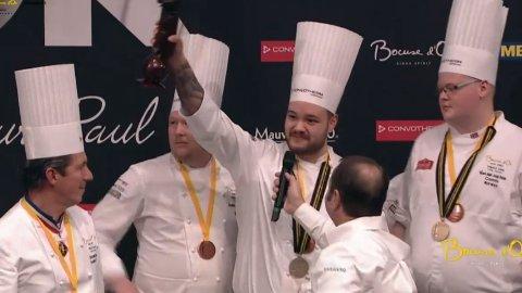 BRONSEVINNER: Christian André Pettersen tok bronsen under Bocuse d'Or i Lyon på onsdag.
