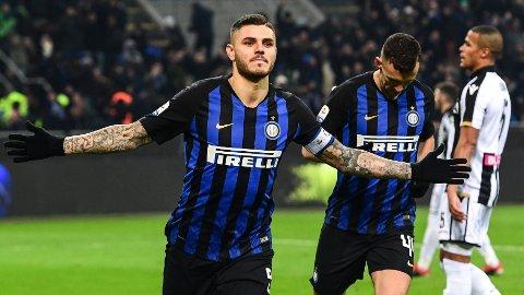 Målmaskinen Mauro Icardi blir trolig sentral for Inter i kveldens Coppa Italia-kvartfinale hjemme mot Lazio.