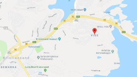 DØDSFALL: En mann er funnet død på Vige i Kristiansand