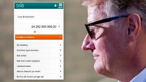 Rune Bjerke og DNB fikk et overskudd på 24,3 milliarder i fjor. Nå krever Huseiernes Landsforbund at bankenes solide inntjening gir billigere banktjenester for kundene.