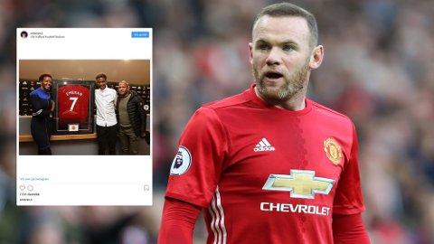 RÅD: Wayne Rooney kom med noen velvalgte råd da han møtte Noam Emeran på Old Trafford.