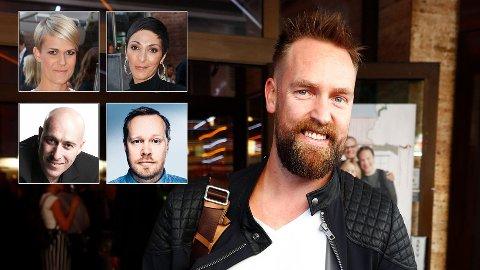 REAGERER: Komikerne Sigrid Bonde Tusvik, Lisa Tønne, André Jermen og Christian Skjelderup er blant de som nå tar avstand til Ørjan Burøe etter anklager om seksuell trakassering.