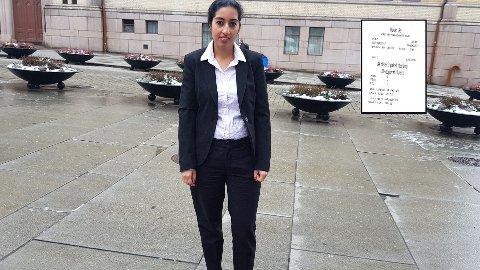 GEBYR: Tosifa Arooj Jasrae fikk gebyr etter å ha blitt stoppet av en billettkontrollør, selv om hun hadde dokumentasjon på at Ruter-månedskortet var fornyet og aktivert.