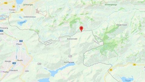 SNØSKRED: Skredet skal ha gått i nærheten av Ammerwald, som ligger ved grensen mellom Østerrike og Tyskland