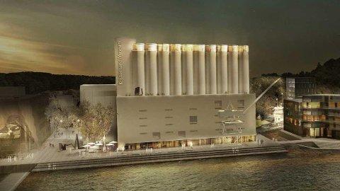KUNSTSILO: Byggingen til 530 millioner kroner skaper full splid i Kristiansand.