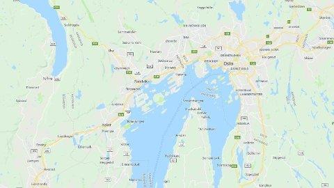 TRAFIKKULYKKE: Ulykken skal ha skjedd langs E18 i nærheten av Asker.