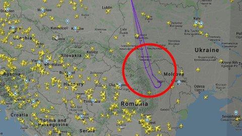 MÅTTE SNU: Norwegians flight DY4545 på vei fra Stockholm til Tel Aviv måtte snu i luften over Romania og vende tilbake til Sverige da Norwegian bestemte seg for å sette alle sine Boeing 737 Max 8-fly på bakken.