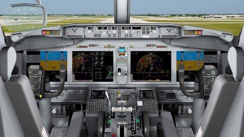 Illustrasjonsfoto Cockpiten i Boeing 737 MAX.