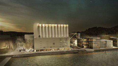 KUNST: Den gamle siloen skal forvandles til et kunstmuseum med en enorm kunstutstilling. Det vil koste omtrent en halv milliard kroner.