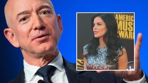 I HARDT VÆR: Det var broren til Jeff Bezos' elskerinne Lauren Sanchez (innfelt) som lekket slibrige sms-er og bilder til kjendisbladet The National Enquirer, ifølge finansavisen Wall Street Journal.