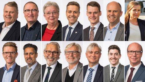 OVER OG UT: Stortingsrepresentantene Hans Fredrik Grøvan (KrF, øverst f.v), Geir Jørgen Bekkevold, Torhild Bransdal, Knut Arild Hareide, Tore Storehaug, Steinar Reiten og Jorunn Gleditsch Lossius hadde mistet stortingsplassen om Nettavisen og Amedias ferske partibarometer var valgresultatet. Mistet plassen ville også Venstres representanter Terje Breivik (nederst f.v), Abid Q. Raja, Carl-Erik Grimstad, Jon Gunnes, André Skjelstad, Grunde Almeland og Ketil Kjenseth. I tillegg ville flere av statsrådene om regjeringen må gå, miste sin stortingsplass.