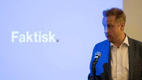 FAKTA: Kristoffer Egeberg er sjef i Faktisk.no som støttes av en rekke norske medier. Den senere tiden har han fått mye kritikk etter det ble avslørt at de sensurerer nyhets- og meningsstoff publisert i norske nyhetsmedier.
