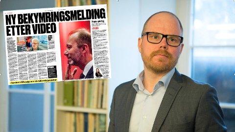FEILAKTIG: VGs sjefredaktør Gard Steiro sier han beklager overfor Aps Trond Giske som mistet tillitsverv i Arbeiderpartiet.