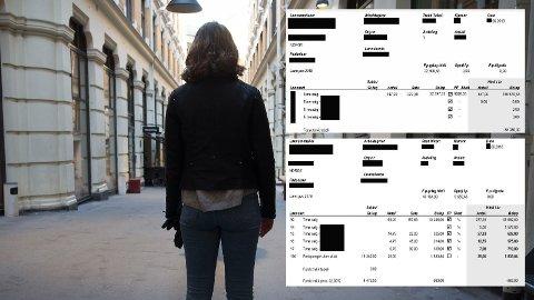 ULIKE INNTEKTSOPPLYSNINGER: Lønnslipper Nettavisen har fått fra Bank Norwegian og studenten selv, viser at uriktig informasjon er gitt i forbindelse med lånesøknaden.