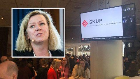 FORBUD: Nyhetsredaktør i Aftenposten, Tone Tveøy-Strøm Gundersen har gitt et forbud om å dra på nachspiel under helgens SKUP-konferanse.