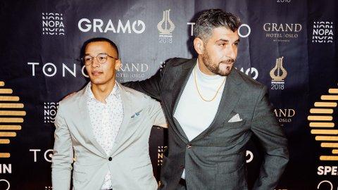 GODE VENNER: Marcus «Kamelen» Kabelo og Leo Ajkic har kjent hverandre helt siden de var små. I dag er Ajkic manageren til det unge rapper-talentet.