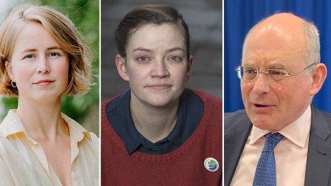 RYKENDE UENIGE: IEA-topp Neil Atkinson sier at en eventuell norsk oljebrems ikke vil påvirke verdens oljeetterspørsel. Det er miljøforkjemperne Anja Bakken Riise og Silje Ask Lundberg rykende uenige i.