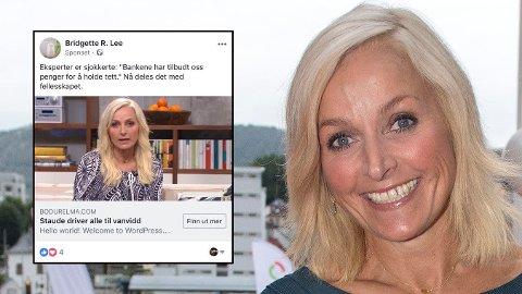 MISBRUKT: Nok en gang opplever «God morgen Norge»-programleder Vår Staude å bli misbrukt i reklame.