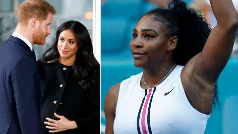 RØPET SEG: I et nylig intervju tyder det på at tennisstjernen Serena Williams kan ha røpet kjønnet på den kommende babyen til hertuginne Meghan og prins Harry