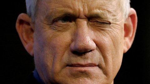 Tidligere forsvarssjef i Israel Benny Gantz regnes som hovedutfordreren til Benjamin Netanyahu.