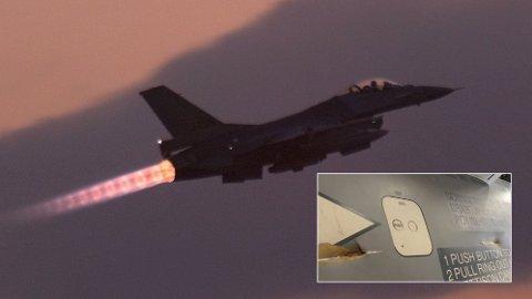 Et nederlandsk F-16-fly skal ha blitt skadet av kuler det selv skjøt under en øvelse i januar.