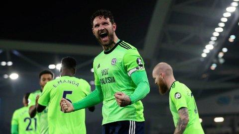 MÅL: Sean Morrison feirer sitt mål mot Cardiff tirsdag kveld.