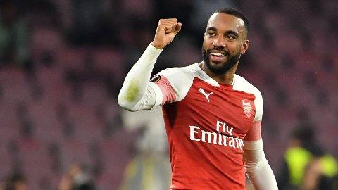SCORET: Alexandre Lacazette sendte Arsenal opp i ledelsen mot Napoli.