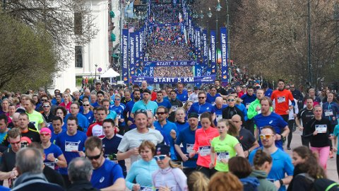 POPULÆRT: Tusener av løpere er med i mosjonsløpet Sentrumsløpet som blir løpt i Oslos gater.