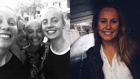 HÅP: Et liv på livsforlengende medisin er verdt å kjempe for, mener Anna Gabrielsen (bildet til høyre), som har en kreftsyk mor. Her er hun sammen med familien sin.