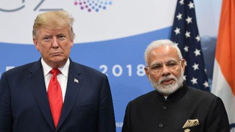 SLÅR TRUMP: Indias nåværende statsminister, Narendra Modi, har flere følgere enn Trump på flere sosiale medier.