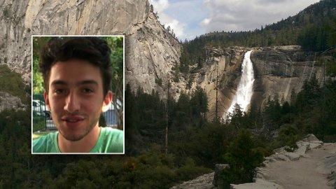 DØDE:Tomer Frankfurter omkom da han skulle bli tatt bilde av ved Nevada-fossen i Yosemite nasjonalpark.