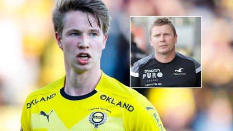 ULIKT SYN: Haugesund-trener Jostein Grindhaug mener Haugesund omtrent ble ranet på Åråsen. Det får matchvinner Kristoffer Ødemarksbakken til å riste på hodet.