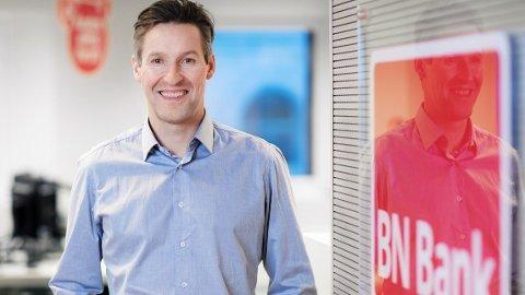 GOD START: Svein Tore Samdal ble sjef for BN Bank, og la 2. mai frem sin første kvartalsrapport hvor han har vært sjef i hele perioden.
