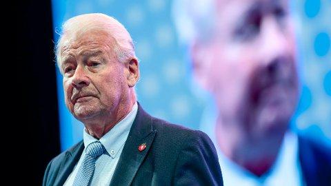 BOMPENGEKUTT:Tidligere partilederCarl I. Hagen fik flertall for å kutte bomselskapenes gjeld på 100 milliarder kroner på Frps landsmøte 2019 på Gardermoen.