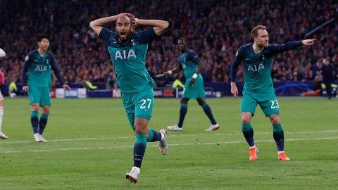 HVA ER DET SOM SKJER: Lucas Moura scoret to for Tottenham, som tok seg til Champions League-finale på sensasjonelt vis.