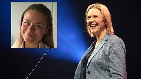 HJELP: Mona Wiik Jonassen (innfelt) mener Norges nye eldre- og folkehelseminister, Sylvi Listhaug, trenger hjelp til politikken om helsefremmende arbeid.