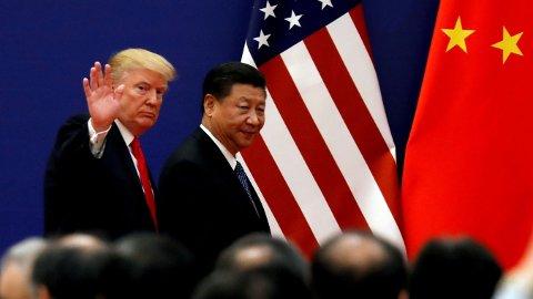 HANDELSKRIG: Det kan gå mot minst en måneds handelskrig mellom USA og Kina.