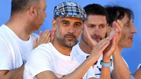 KOBLES TIL JUVENTUS: Italiensk nyhetsbyrå hevder Pep Guardiola signerer for Juventus 4. juni, men City-topp ler av ryktene.